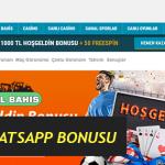 BahseGel WhatsApp Bonusu